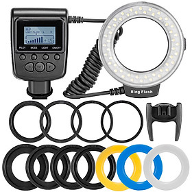 48 LEDs Macro LED Ring Flash Light for Nikon Canon Olympus DSLR Camera