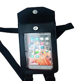 túi ghi đông để điện thoại treo xe máy chất liệu da cao cấp tiện dụng mẫu mới 2020 có màu đen và nâu thiết kế gọn sử dụng trong grap , goviet và ai cũng sử dụng được vì tiện dụng trong việc di chuyển bằng xe máy