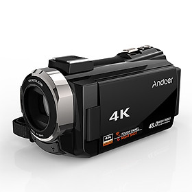 Máy Quay Phim Andoer Tích Hợp Màn Hình Cảm Ứng Sử Dụng Chip Novatek 96600 Kèm 2 Pin Sạc  (48MP) (1080P) (3 Inch) (Zoom 16X)