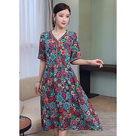 Đầm Suông Bigsize Dạo Phố in Họa Tiết Popart Màu Tươi Trẻ GOTI 1744