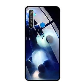 Ốp lưng kính cường lực cho điện thoại Realme 5 - 0294 PANDA - Hàng Chính Hãng