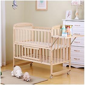 Nôi cũi gỗ, giường cũi cho bé kích thước 120*65cm