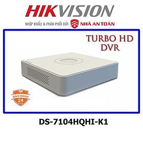 Đầu ghi camera 4 kênh HDTVI up to 4MP Hikvision DS-7104HQHI-K1 - hàng chính hãng NAT
