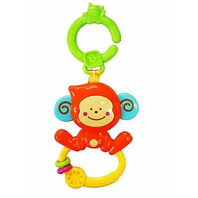 Chú khỉ con xúc xắc, gặm nướu kèm treo nôi cũi, xe đẩy - BPA Free B KIDS 004499