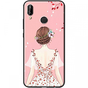 Ốp lưng dành cho điện thoại Huawei Nova 3I-Mẫu Cô gái áo hồng