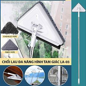 Chổi lau đa năng hình tam giác LA-03 lau cửa kính, tường trần nhà, sàn nhà tiện lợi, nhẹ nhàng, hiệu quả