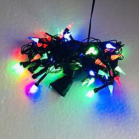 Dây đèn Led trang trí 10m bóng nhọn nháy nhiều màu