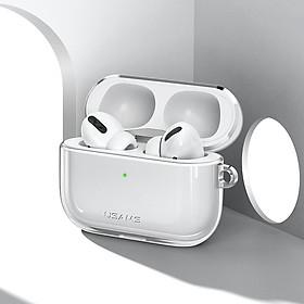 Bao case silicon trong suốtchống sốcsiêu mỏng cho tai nghe Apple Airpods Pro hiệu Usams US-BH570 (Mỏng 1.5mm, bảo vệ toàn diện, vật liệu cao cấp) - Hàng nhập khẩu