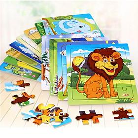 Combo 10 tranh ghép 20 mảnh bằng gỗ MK001  - đồ chơi ghép hình thông minh bằng gỗ an toàn cho bé