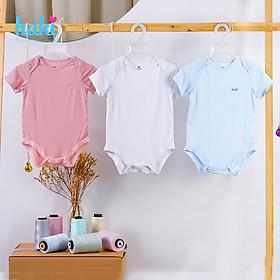 Body cho bé sơ sinh vải sợi tre cao cấp siêu mềm mịn - body suit cho trẻ sơ sinh - bé trai - bé gái , Bộ áo liền quần bodysuit cho bé , body cộc tay cho bé từ 3 đến 18 tháng (4- 12kg) HAKI BB006