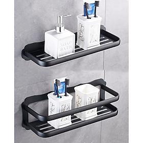 Giá để đồ nhà tắm 2 tầng màu đen Locika GI397 - Vẻ đẹp từ sự đơn giản