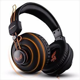 Tai nghe chụp tai chuyên game Ovann X7 Đen Cam - Hàng Nhập Khẩu
