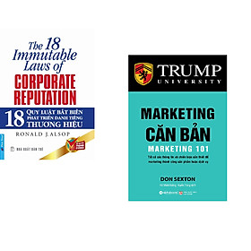 Combo 2 cuốn sách: 18 Quy Luật Bất Biến Phát Triển Thương Hiệu + Marketing Căn Bản