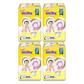 Combo 4 Tã Dán Cho Bé UniDry (G6+) size M42 (42 Miếng)