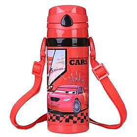 Bình đựng nước giữ nhiệt chân không Disney cho bé hình xe đua