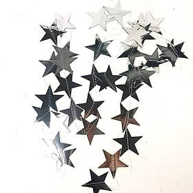 Dây garland trang trí hình ngôi sao ép kim