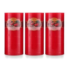 Bộ nến thơm Hạnh Phúc 15 - Bộ 3 nến thơm D7H15 Miss Candle MIC0277 7 x 15 cm (Chọn mùi hương)