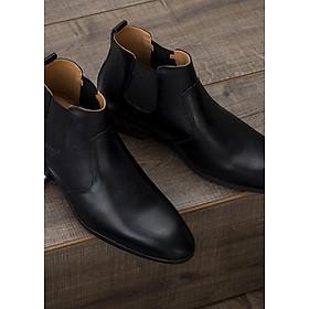 Giày Cao Nam Cổ Lửng,Chelsea Boots Đen  GV053