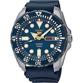 Seiko Men's Diver Automatic SRP605K2 Blue Rubber Automatic Fashion Watch