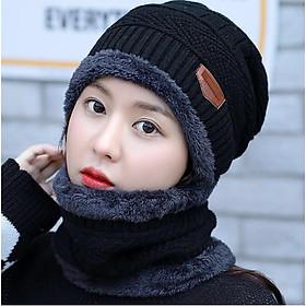 ComBo Mũ Len Kèm Khăn Cổ Hàn Quốc WBNL013