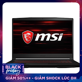 Laptop MSI GF63 Thin 9SCXR-075VN (Core i5-9300H/ 8GB DDR4 2666MHz/ 512GB SSD M.2 PCIE/ GTX 1650 4GB GDDR6/ 15.6 FHD IPS/ Win10) - Hàng Chính Hãng