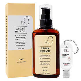 Dầu Dưỡng Tóc RAIP R3 Argan Hair Oil Phục Hồi Tóc Hư Tổn. Tặng Gel Móc Khóa 30ml