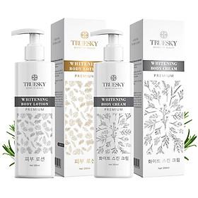 Bộ tắm trắng toàn thân cấp tốc Truesky Premium chính hãng giúp làm trắng nhanh gồm 1 chai ủ trắng 200ml & 1 chai dưỡng trắng 200ml
