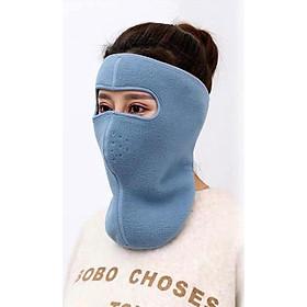 Bộ 2 khẩu trang ninja che cổ dán gáy vải nỉ chống nắng gió bụi hàn xì thích hợp cả nam và nữ - khau trang ninja che co dan gay chong nang