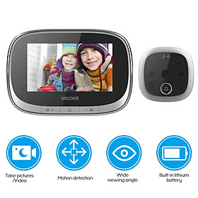 Multi-function Cat Eye Smart Visual Door Bell Photo Video Home Security Camera Room Accessories (Silver)