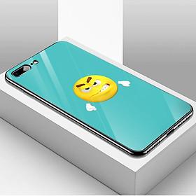 Ốp điện thoại kính cường lực cho máy iPhone 7 Plus / 8 Plus - emojis nhiều cảm xúc MS EMGES027
