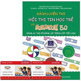 Combo khóa học lập trình Scratch 3.0 (Cơ bản + Nâng cao) và sách luyện thi tin học trẻ cấp Tiểu học