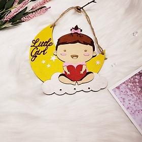 Bảng gỗ trang trí LITTLE GIRL