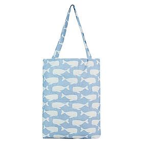 Túi Tote Nữ Cá Voi XinhStore TVBM_20 (41 x 30 cm) - Xanh Nhạt