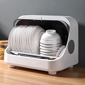 Tủ đựng bát đĩa khử trùng bằng tia UV giúp diệt 99,9% vi khuẩn - Giá úp bát có nắp đậy chống bụi bẩn