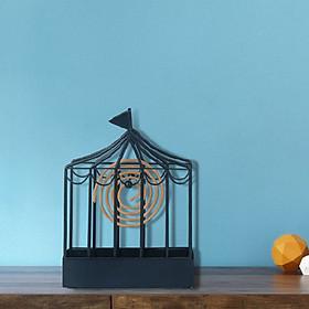 Đế đốt nhang muỗi hình lồng chim – Lồng treo hương bắt muỗi - Chất liệu kim loại tiện dụng