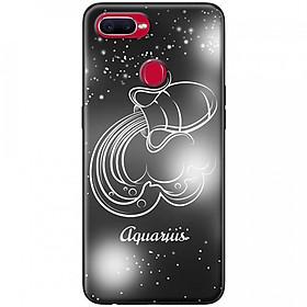 Ốp lưng  dành cho OPPO F9 mẫu Cung hoàng đạo Aquarius (đen)