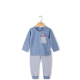 Bộ cotton len hình oto bé trai 1-5 tuổi