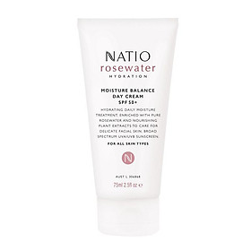 Natio Rosewater Hydration Moisture Balance Day Cream SPF 50+ Online Only