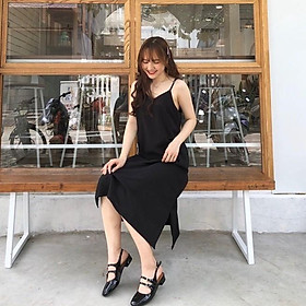 Váy 2 dây trơn basic - Váy hai dây lụa basic nhiều màu form rộng bầu mặc thoải mái - CM Fashion