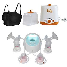 Máy hút sữa Spectra S1 Plus, máy hâm sữa hai bình Fatzbaby + áo hút sữa rảnh tay