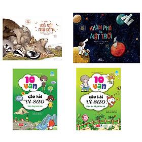 Combo 4 cuốn Khoa học chẳng khó: Các loài vật ngủ đông (Tái bản) + Khoa học chẳng khó - Khám phá hệ mặt trời  + 10 vạn câu hỏi vì sao - Cuộc sống muôn màu + 10 vạn câu hỏi vì sao - Khám phá thế giới thực vật