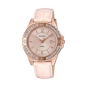 Đồng hồ nữ dây da Casio Sheen chính hãng SHE-4532PGL-4AUDF