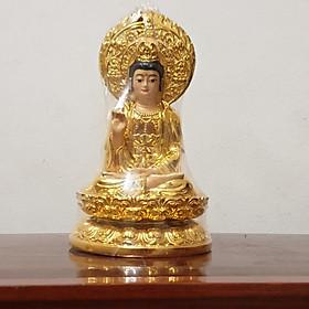 Tượng Quan Âm Bồ Tát Phước Tài 2 Mặt Màu Vàng Đồng Trang Trí Xe Hơi, Nhà Cửa KB09