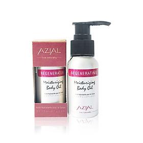 Dầu massage body tinh dầu Sả Gừng AZIAL Regenerating Moisturizing Body Oil 50ml, dưỡng ẩm, thư giãn cơ bắp, làm dịu cơn đau nhức