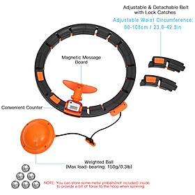 Adjustable Spinning Waist Hoop with Counter Smart Counting Waist Hoop for Waist Slimming Exercise-2