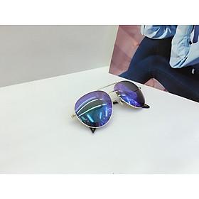 kính mát nữ tráng gương mắt ruồi, gọng mảnh, UV400, mắt kính phân cực OVD0001