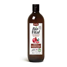 Dầu Gội Hữu Cơ Nuôi Dưỡng Tóc Deba Bio Vital Argan Oil & Pomegranate
