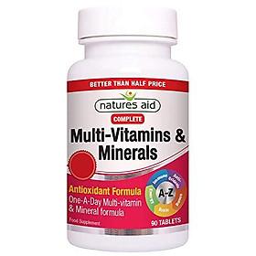 Natures Aid Complete Multi-Vitamin & Minerals Antioxidant Formula 90 Tabs - Good Health