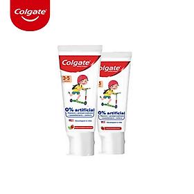 Bộ 2 kem đánh răng trẻ em Colgate Kid Free From không chất nhân tạo cho bé 3 đến 5 tuổi 80g/tuýp