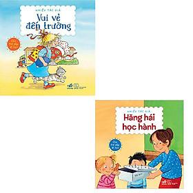 Bộ 2 hộp sách xinh xắn dành cho trẻ sắp đi học: Vui Vẻ Đến Trường - Hăng Hái Học Hành